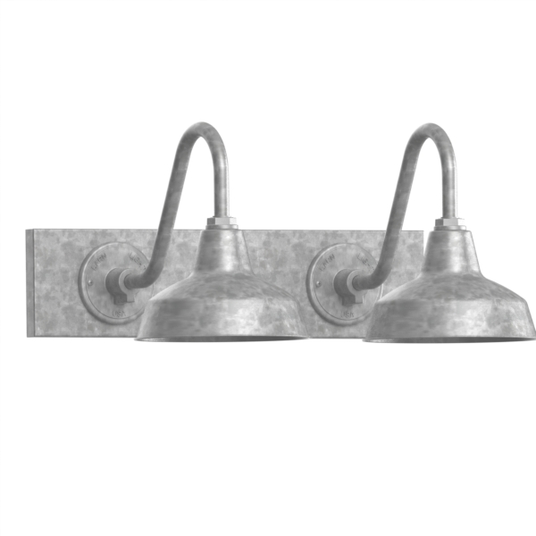 galvanized lighting fixtures. Austin Gooseneck Double Vanity Light, 10\ Galvanized Lighting Fixtures P