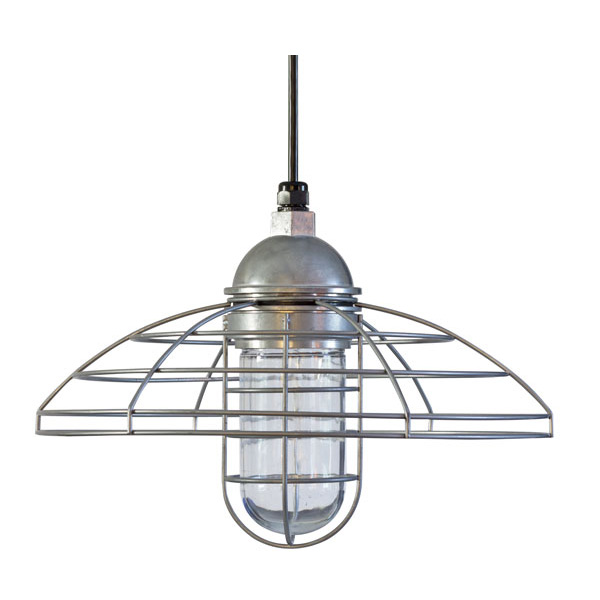 Blue collar pendant caged pendant light barn light electric the blue collar pendant mozeypictures Images