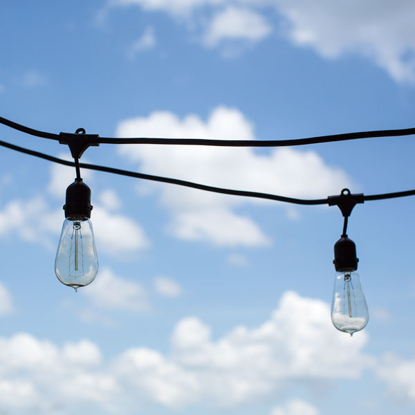 Outdoor cafe string lights barn light electric outdoor caf string lights 1890 era 40w edison style bulbs aloadofball Image collections