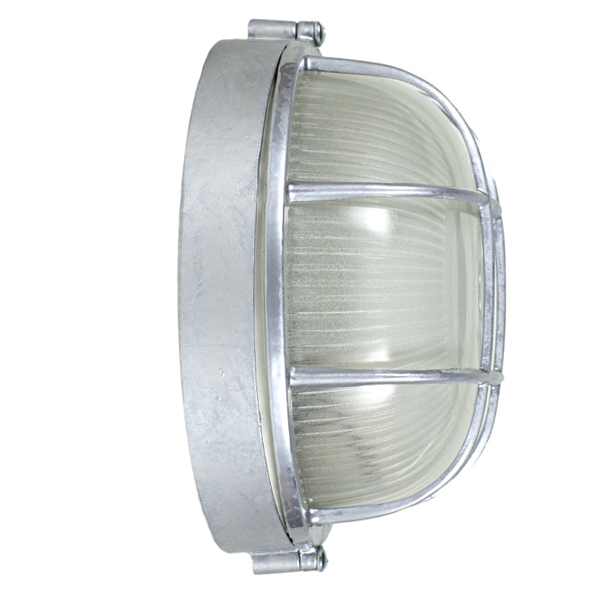 Anchorage bulkhead lights wall mount fixture barn light electric galvanized large anchorage bulkhead wall mount light fixture galvanized side view workwithnaturefo