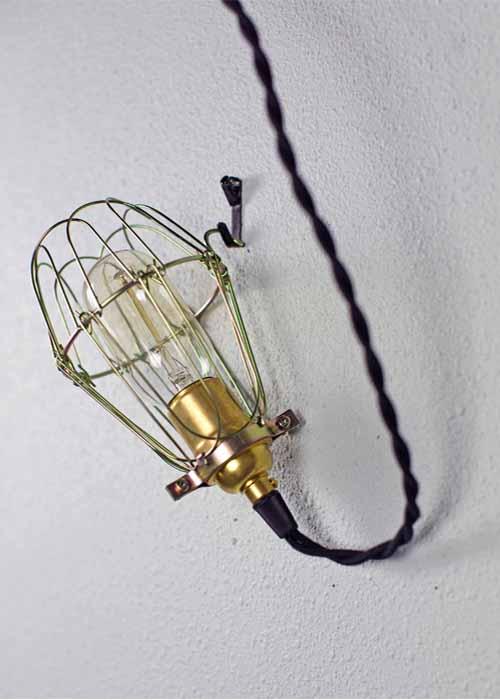 Minimalist Polished Brass Cage Pendant | Barn Light Electric