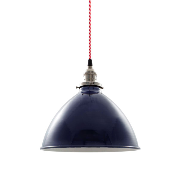Getty dome shade pendant light barn light electric 10 getty dome shade pendant 705 navy nickel socket with no switch mozeypictures Images