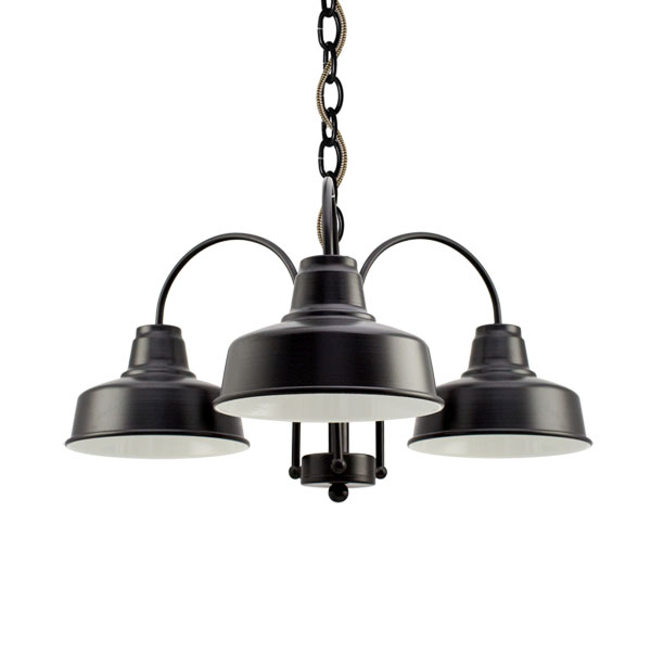 The calico chandelier barn light electric the calico 3 light chandelier 100 black csbb black brown cloth aloadofball Images
