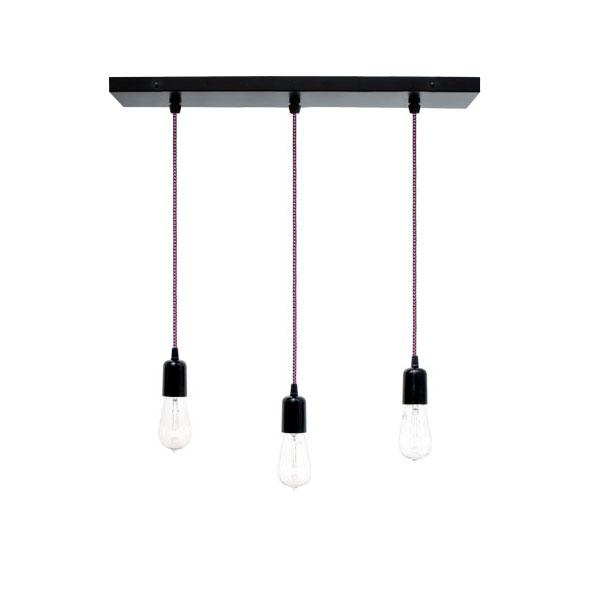 The 3 light pendant chandelier barn light electric 3 light pendant chandelier 100 black csbp pink black cloth aloadofball Images