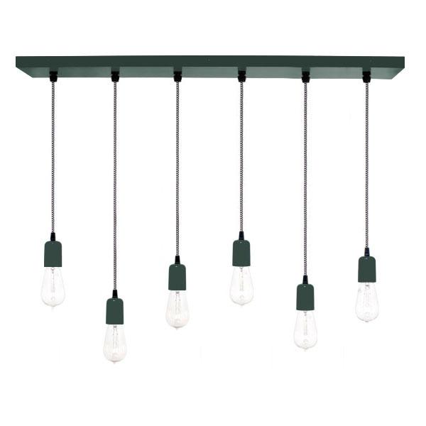 The 6 light pendant chandelier barn light electric 6 light pendant chandelier 300 dark green csbw black white mozeypictures Gallery