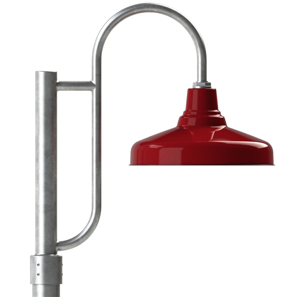 The union single post mount light barn light electric porcelain post top fixtures aloadofball Choice Image