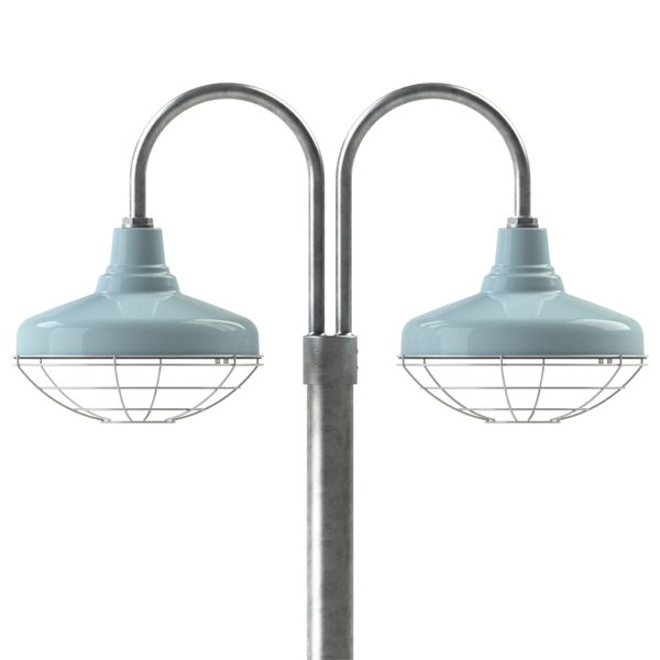 Galvanized Outdoor Lights The union double post mount light barn light electric 16 union 765 delphite wire cage 975 galvanized double workwithnaturefo