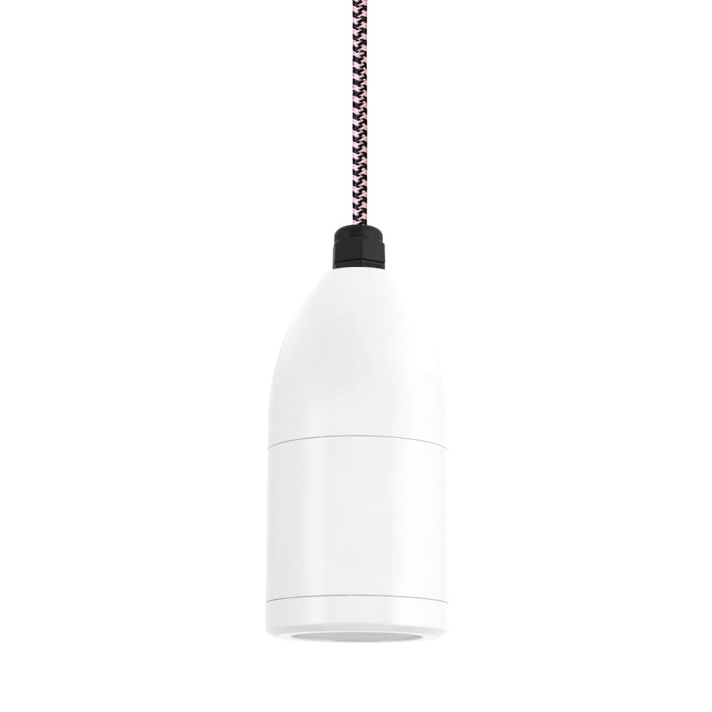 The bullet cord hung led pendant barn light electric the bullet cord hung led pendant 200 white csbp black pink arubaitofo Image collections