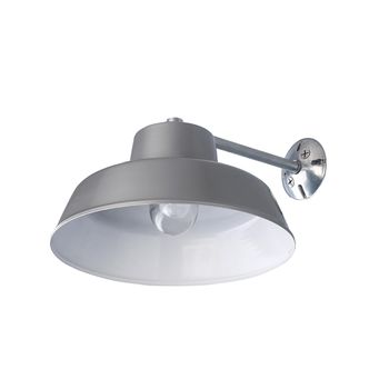 Farm & Barn All Weather Warehouse Ceiling Light Fixture, Grey, Gooseneck