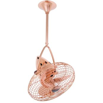 Hemingway Directional Fan, Polished Copper | With Metal Safety Cage