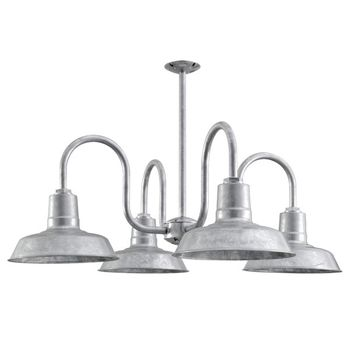 The Von Braun 4-Light Chandelier, 975-Galvanized