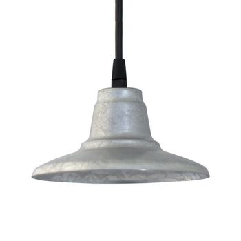 Mini Eclipse Pendant, 975-Galvanized | SBK-Standard Black Cord