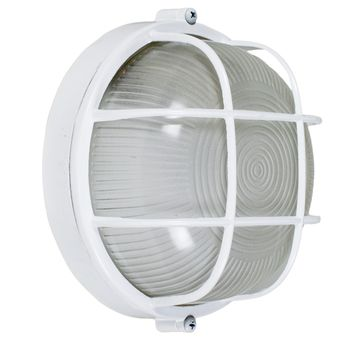 Large Anchorage Bulkhead Wall Mount Light Fixture, White