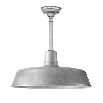 "24"" Original Stem Mount LED Pendant, 975-Galvanized Finish 