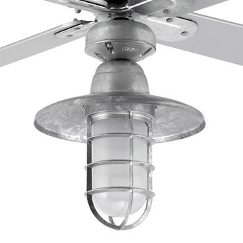 Machine Age Cast Guard Ceiling Fan Light Kit, FST-Frosted Glass