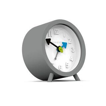 Fred Alarm Clock, Clockwork Grey & Pebble White