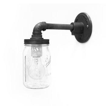 The Rowland Ball Jar Sconce, Edison Style 1890 Era 40W Bulb