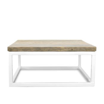 Beckett Coffee Table, DP1-Grey Wash Pine, 200-White