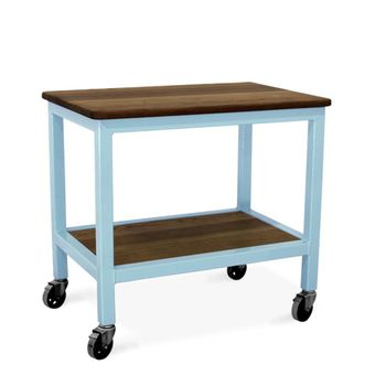 Jackson Kitchen Island, NW-Natural Walnut, 715-Delphite Blue