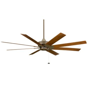 Levon Ceiling Fan, Oil-Rubbed Bronze With Walnut Blades