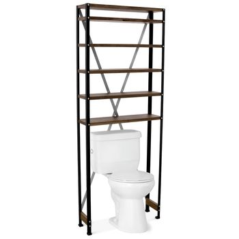 Jax Toilet Shelf, MP-Mahogany Pine, 100-Black