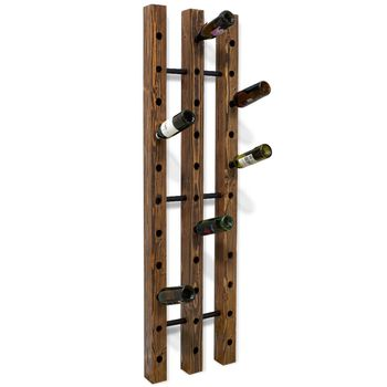 Margot Wine Rack, DO-Distressed Oak, 100-Black