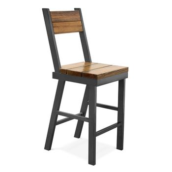 Mitchell Bar Stool, LO-Limed Oak, 915-Silver Vein