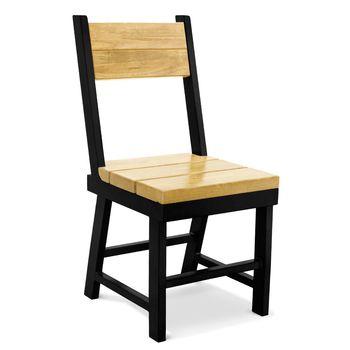 Mitchell Chair, GP-Golden Pine, 100-Black