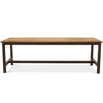 Calvin Community Table, NO-Natural Oak, 601-Chocolate