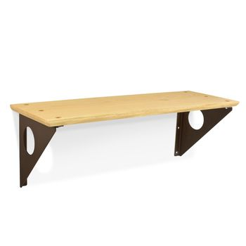 Winston Wall Shelf, GP-Golden Pine, 605-Rust