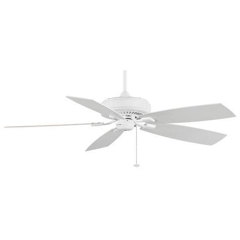 Edgewood Deluxe Ceiling Fan, White