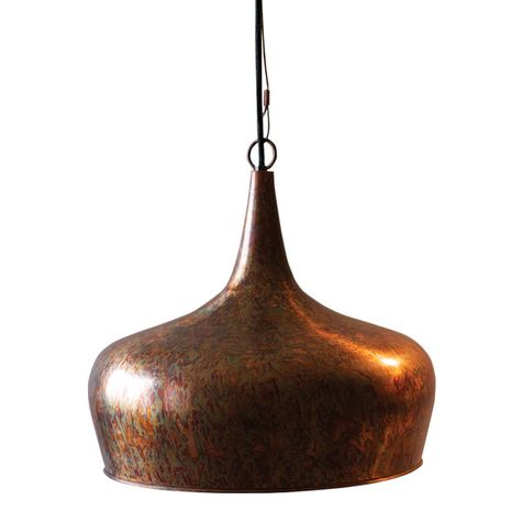 Antique Rust Metal Tear Drop Pendant