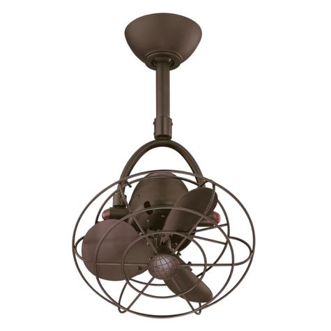 Donna Oscillating Guided Fan | Bronze