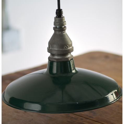 "14"" Houston Street Soho Pendant, 300-Dark Green"