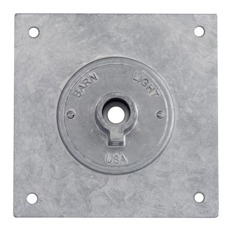 The Heavy Duty Square Backing Plate | 975-Galvanized