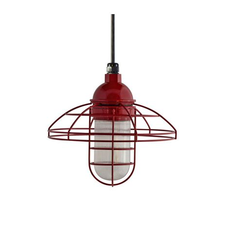 "12"" Blue Collar Pendant, 400-Barn Red 