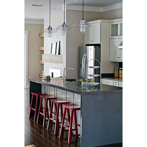 Blue Collar Pendant in 975-Galvanized in Kitchen