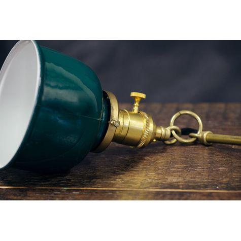 Fargo Stem & Loop Pendant, 300-Dark Green | Brass