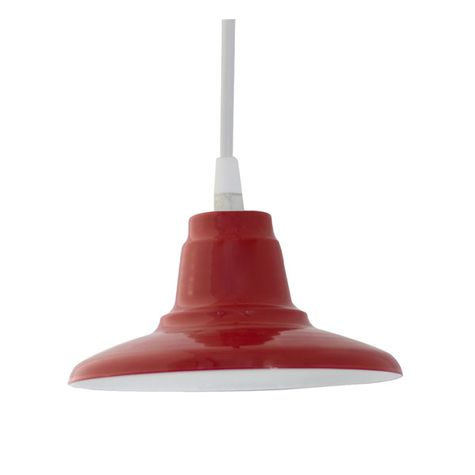 Mini Eclipse Pendant, 400-Barn Red | SBK-Standard White Cord