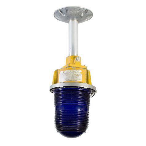 """Vintage Blue Airport Taxi Runway Stem Mount Light, 6"""" Stem Option"""