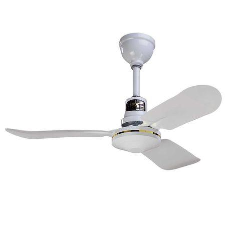 """36"""" Barn Ceiling Fan Industrial, White"""
