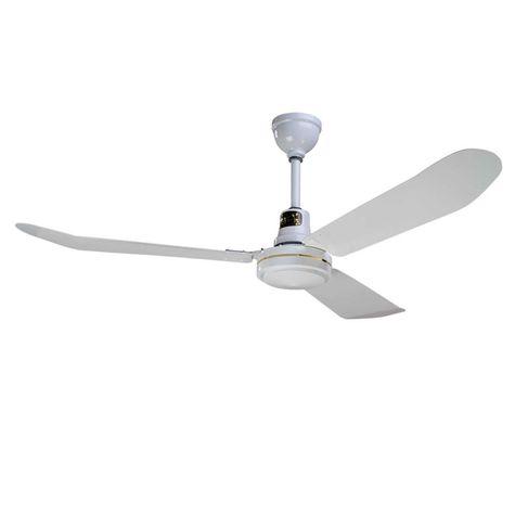 """56"""" Barn Ceiling Fan Industrial, White"""