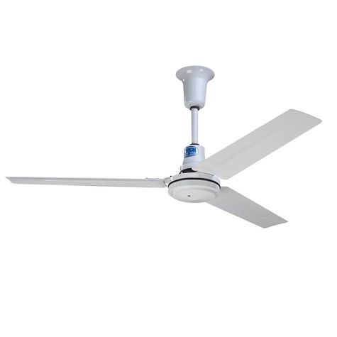 "60"" Barn Ceiling Fan Equine, White"