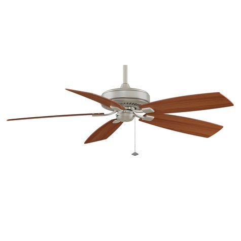 Edgewood Deluxe Ceiling Fan, Satin Nickel