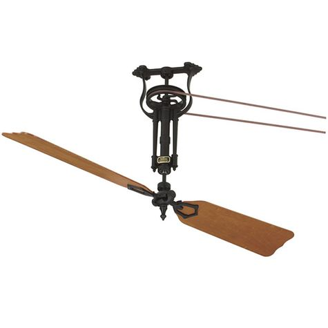 Brewmaster Belt Driven Ceiling Fan, Cherry Wood Blades