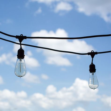 Outdoor Café String Lights, 1890 Era 40w Edison Style Bulbs