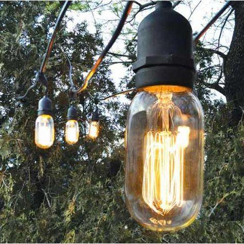 Café String Light, 40w Spiral Edison Bulb