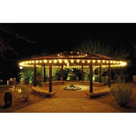 Café String Lights, Outside Pavilion