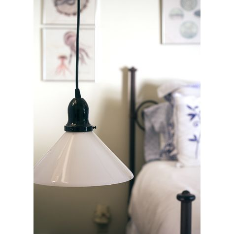 Homestead Pendant Light, Milk Glass