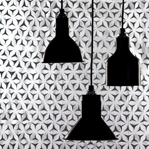 The Tuscany Modern Cord Hung Pendant, 100-Black (Right)